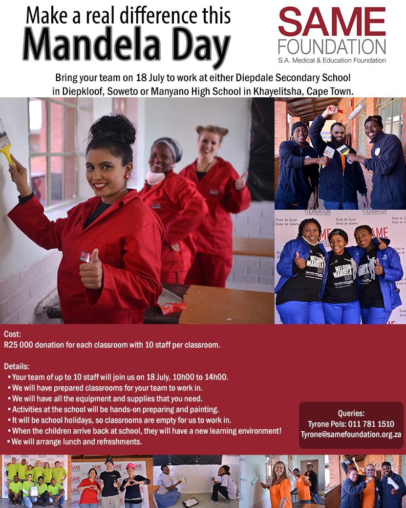 Mandela day 2017 information